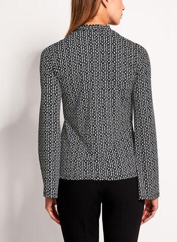 Mini Cross Print Scarf Tie Top, , hi-res