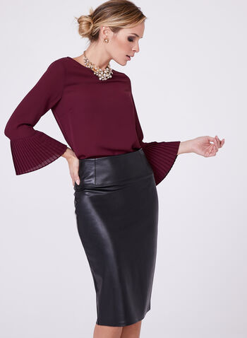 3/4 Bell Sleeve Blouse, , hi-res