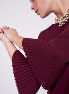 3/4 Bell Sleeve Blouse, Red, hi-res
