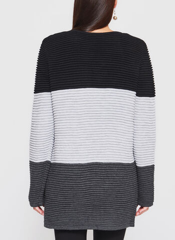 Color Block Ribbed Cardigan, , hi-res