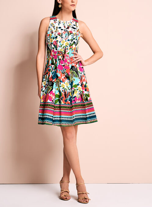 Maggy London Floral Fit & Flare Dress, Multi, hi-res