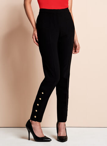 Straight Leg Ankle Pants, , hi-res
