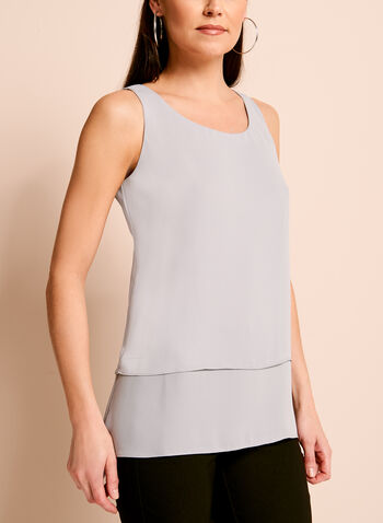 Sleeveless Double Layer Blouse, , hi-res