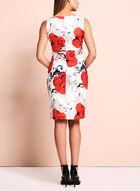 Ivanka Trump Floral Scuba Dress, Red, hi-res