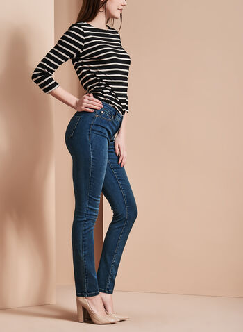 Slim Leg 5-Pocket Jeans , , hi-res