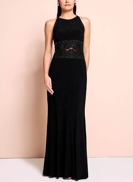 Emma Street Halter Neck Gown, Black, hi-res