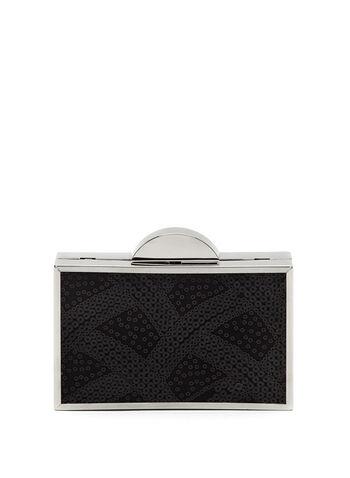 Sequin Box Clutch, , hi-res