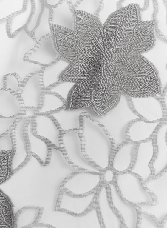 Sheer Floral Print Evening Wrap, Gold, hi-res