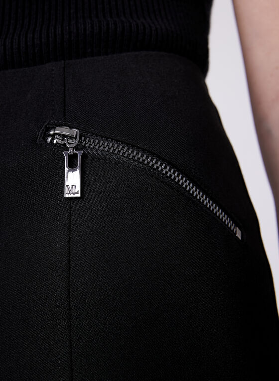 Amber Tailored Fit Slim Ankle Pants, Black, hi-res