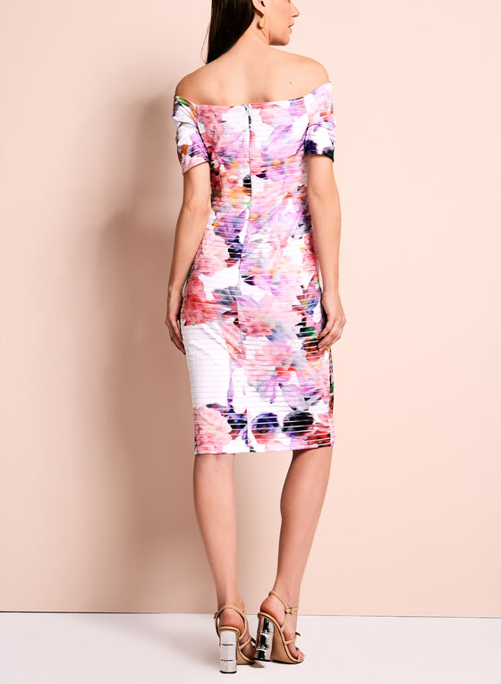 Maggy London - Off The Shoulder Floral Dress, Multi, hi-res