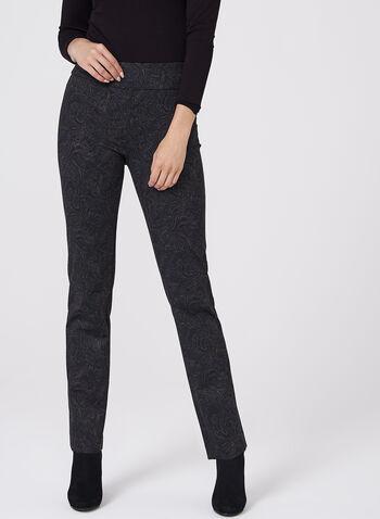 Paisley Print Straight Leg Pants, , hi-res