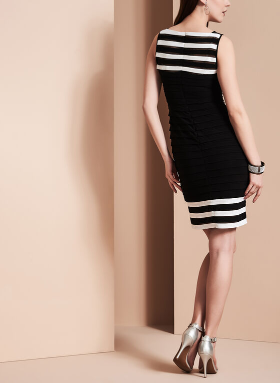 Adrianna Papell - Tiered Jersey Dress, Black, hi-res