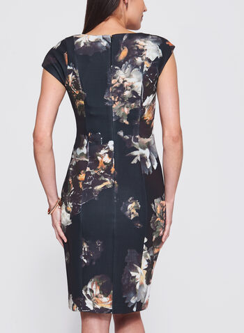 Floral Print Scuba Dress, , hi-res