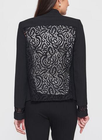 T Tahari - Lace Trim Open Front Blazer, , hi-res