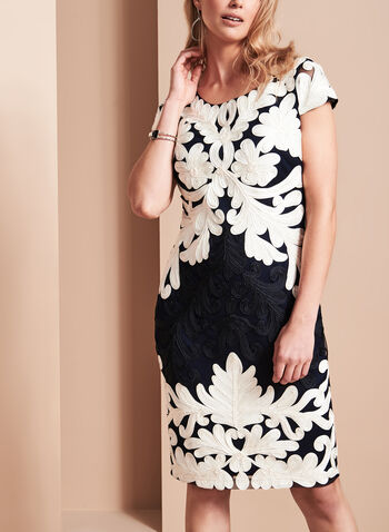 Frank Lyman Embroidered Soutache Dress, , hi-res