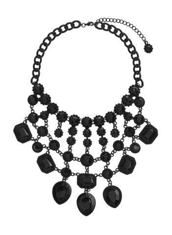 Multi-Stone Bib Necklace, , hi-res