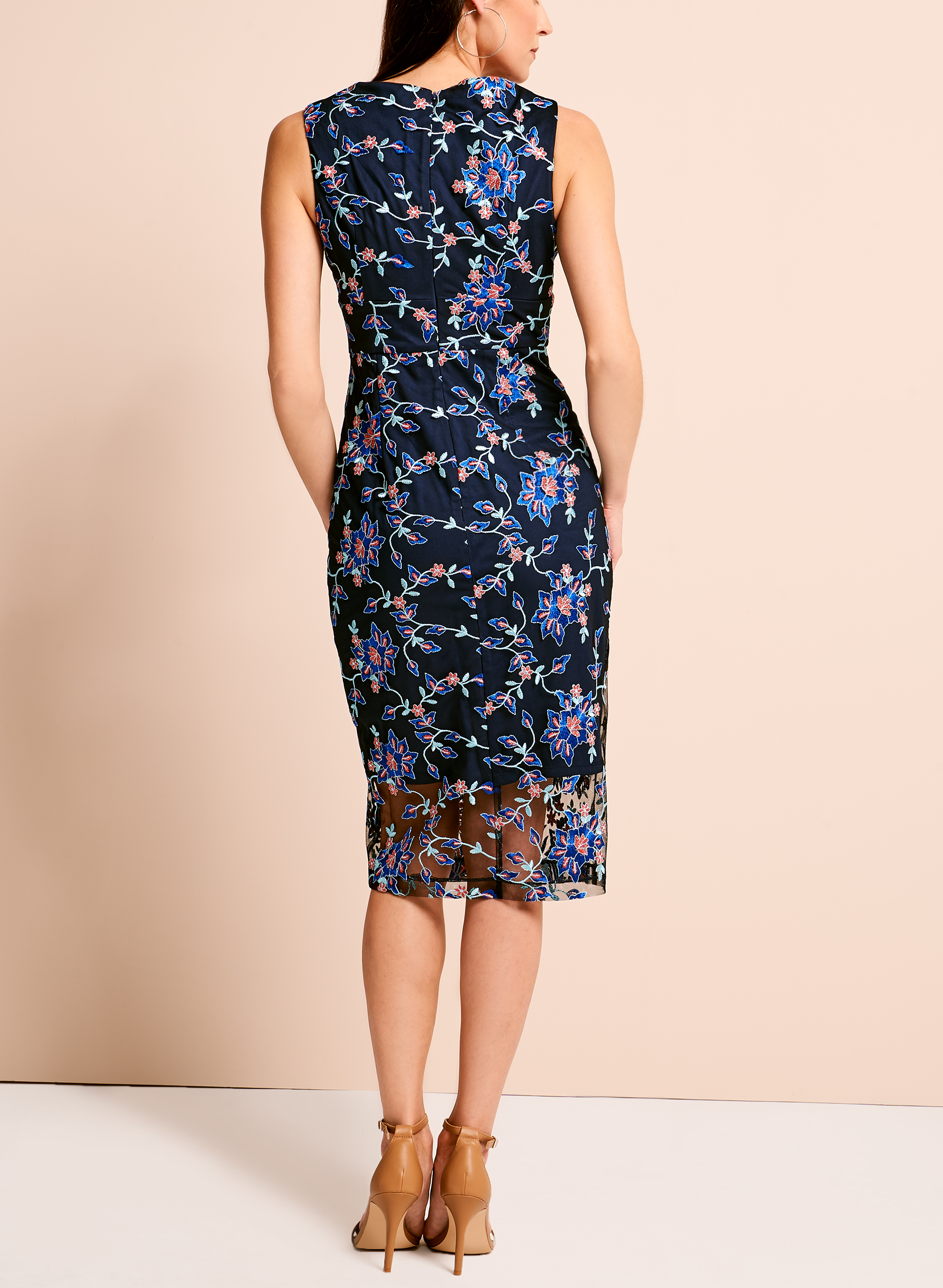 Jax floral embroidered mesh dress melanie lyne